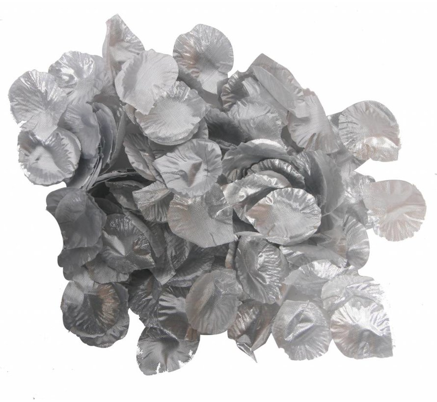 Luxe Rozenblaadjes Zilver- 144 stuks