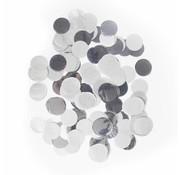 Ronde Confetti Groot Zilver