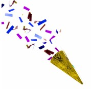 Confetti Party Popper Goud