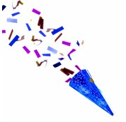 Confetti Party Popper Blauw