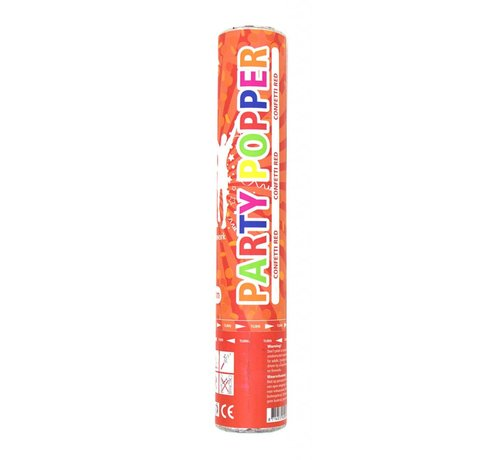 Confetti Party Popper Rood - 28 cm