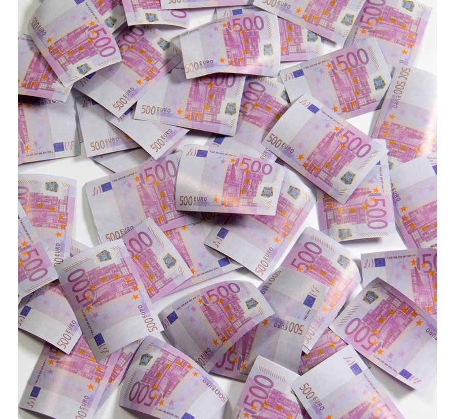 Party Popper Euro Biljetten - 28 cm