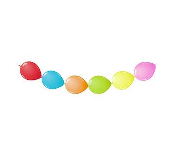 Doorknoopballonnen Multicolor - 3 meter