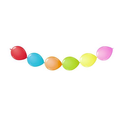 Doorknoopballonnen Multicolor - 6 stuks