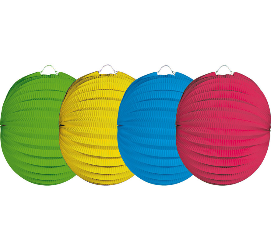 Lampion Bol Kleurmix - per kleur & per stuk