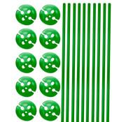 Ballonhouders + Dopjes Groen - 10 stuks
