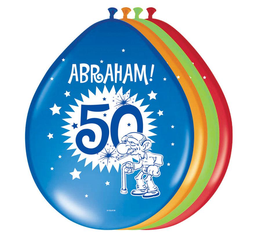 Abraham Folatex Ballon 30cm - 8 stuks
