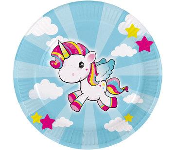 Unicorn Bordjes 23 cm - 8 stuks