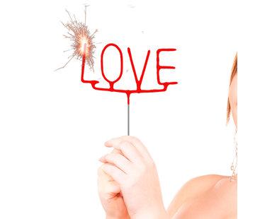"Sterretjes ""LOVE"" Rood - per stuk"