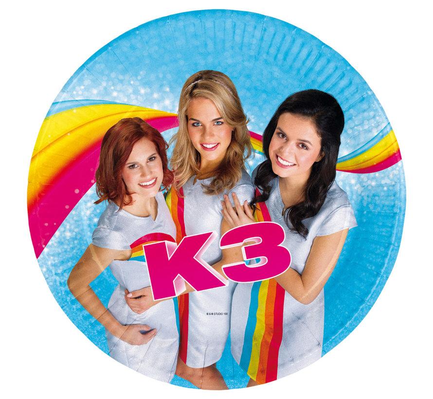 K3 Wegwerp Bordjes - 8 stuks