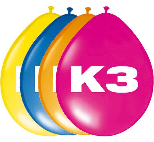 K3 Ballonnen - 8 stuks