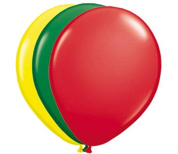 Folatex Ballonnen Rood/Groen/Geel 25cm- 25 stuks