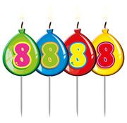 Verjaardagkaarsjes Balonnen 8 jaar - per stuk