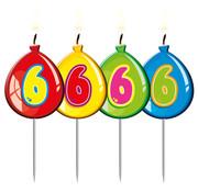 Verjaardagkaarsjes Balonnen 6 jaar - per stuk