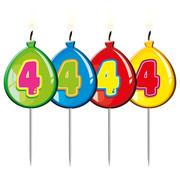 Verjaardagkaarsjes Balonnen 4 jaar - per stuk