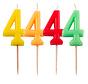 Verjaardagkaarsjes Neon 4 jaar - per stuk