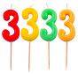 Verjaardagkaarsjes Neon 3 jaar - per stuk