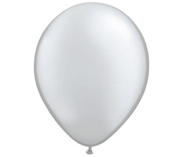 Folatex Ballonnen Metallic Zilver 30cm - 10 stuks