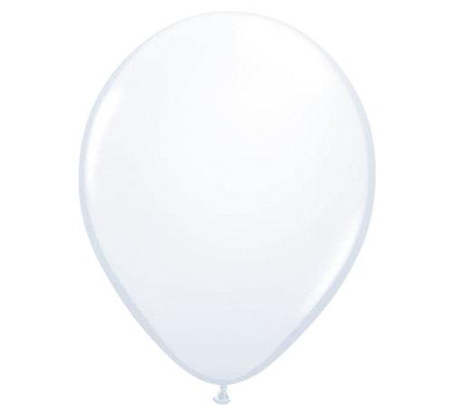 Folatex Ballonnen Metallic Wit 30cm - 10 stuks
