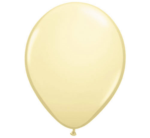 Folatex Ballonnen Metallic Ivoor 30cm - 10 stuks