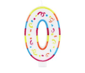 Verjaardagskaarsjes Groot '0' - per stuk