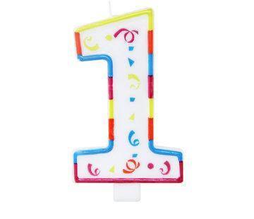 Verjaardagskaarsjes Groot 1 jaar - per stuk
