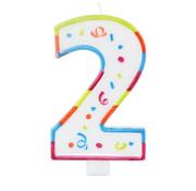 Verjaardagskaarsjes Groot 2 jaar - per stuk