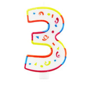 Verjaardagskaarsjes Groot 3 jaar - per stuk