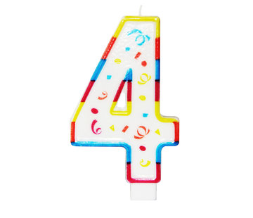 Verjaardagskaarsjes Groot 4 jaar - per stuk