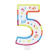 Verjaardagskaarsjes Groot 5 jaar - per stuk