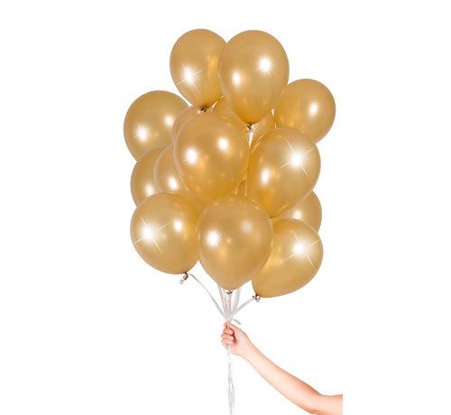 Folatex Metallic Ballonnen Goud 23cm - 30 stuks