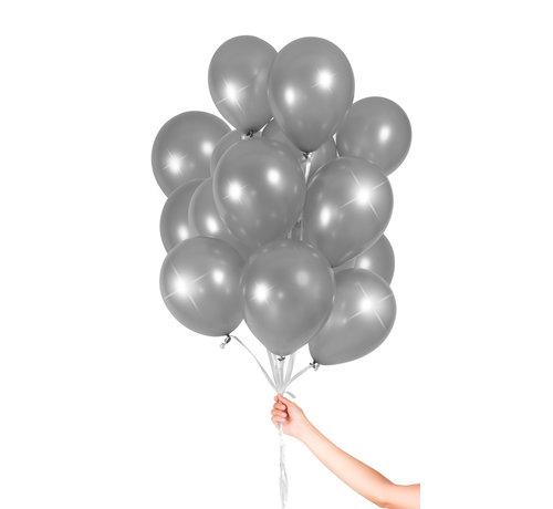 Folatex Metallic Ballonnen Zilver 23cm - 30 stuks