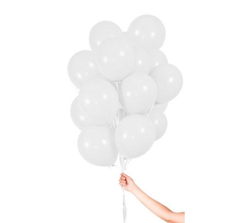 Folatex Metallic Ballonnen Wit 23cm - 30 stuks