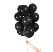 Folatex Metallic Ballonnen Zwart - 30 stuks