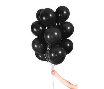 Folatex Metallic Ballonnen Zwart 23cm - 30 stuks