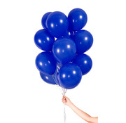 Folatex Metallic Ballonnen Donkerblauw 23 cm - 30 stuks