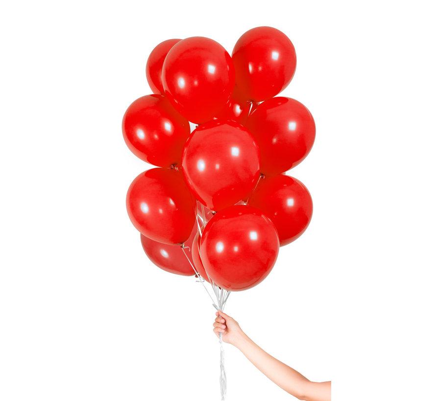 Folatex Metallic Ballonnen Rood 23cm  - 30 stuks
