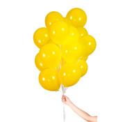 Folatex Metallic Ballonnen Geel - 30 stuks