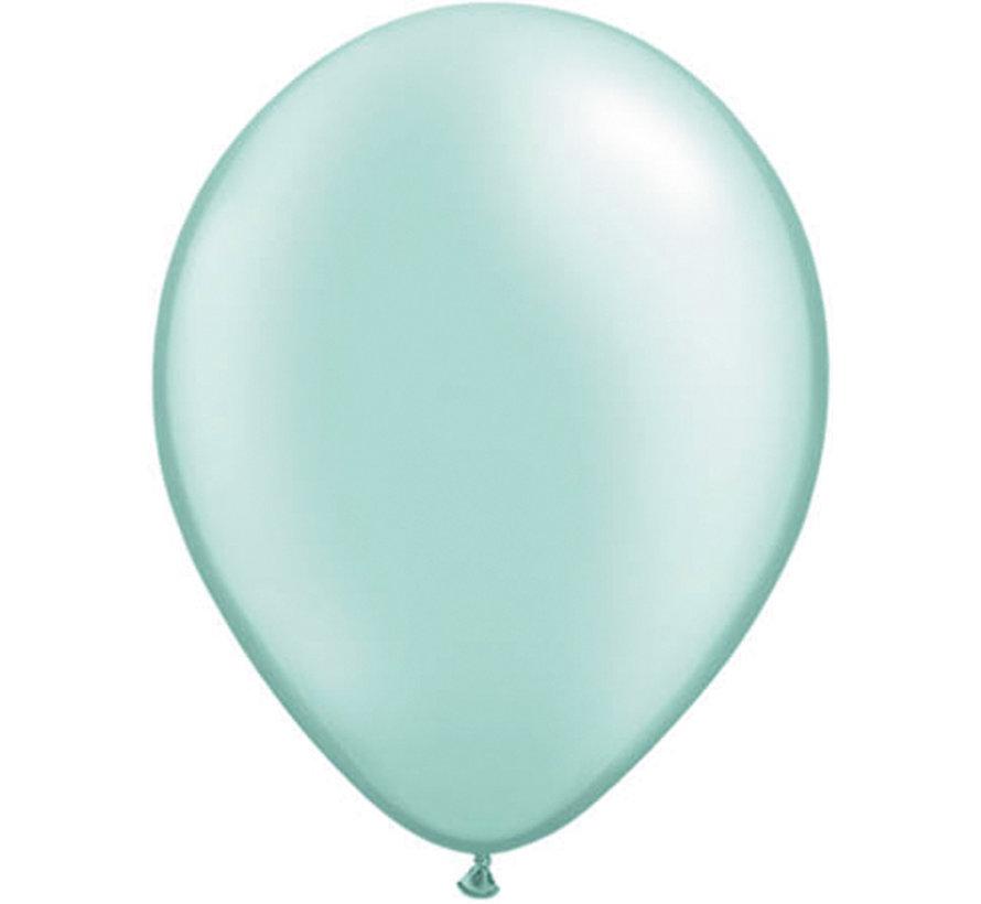 Kleine Mintgroene Metallic Ballonnen 13cm - 100 stuks