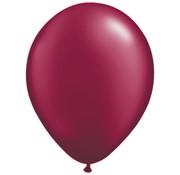 Transparante Burgundy Ballonnen 28cm - 100 stuks
