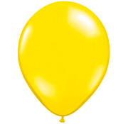 Transparante Gele Ballonnen 28cm - 100 stuks