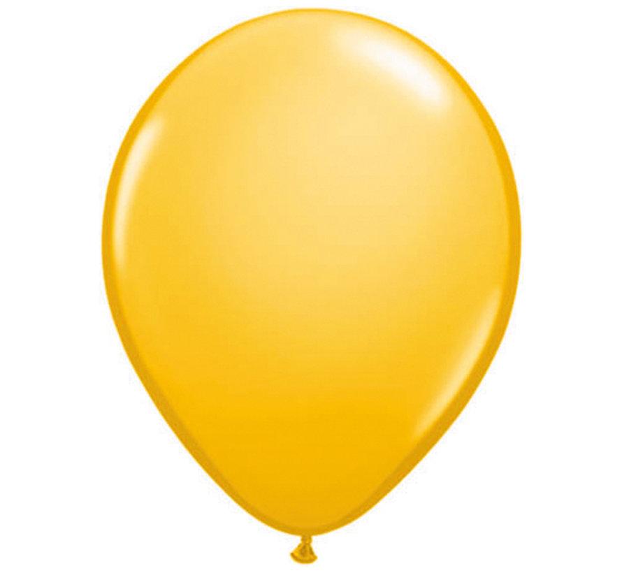 Goldenrod Kleurige Ballonnen 28cm - 100 stuks