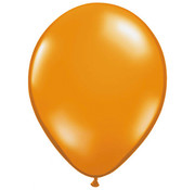 Transparante Oranje ballonnen - 100 stuks