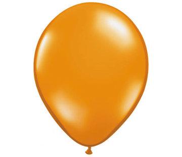 Transparante Oranje ballonnen 28cm - 100 stuks