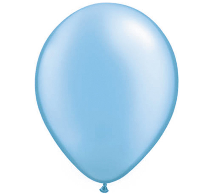 Azuurblauwe Pearl Ballonnen 28cm - 100 stuks