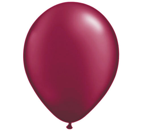Burgundy Pearl Ballonnen 28cm - 100 stuks