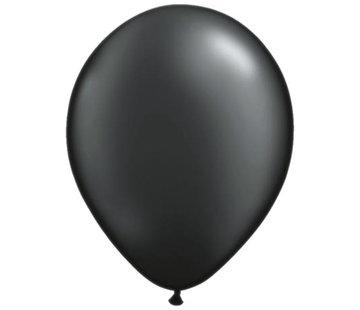 Metallic Zwarte Ballonnen - 100 stuks