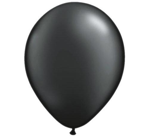 Metallic Zwarte Ballonnen 30cm - 100 stuks