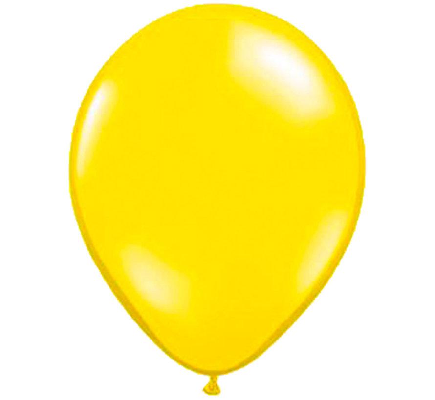 Citroen Gele Metallic Ballonnen 28cm - 100 stuks