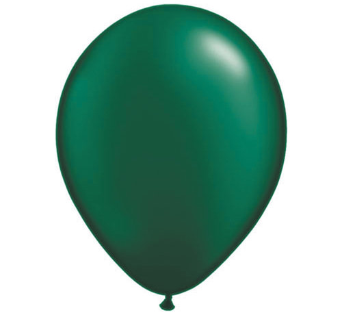 Donkergroene Pearl Ballonnen 28cm - 100 stuks